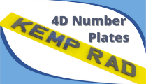 4D Number Plates provided by KEmpston Radiators car Garage in Kempston Bedford